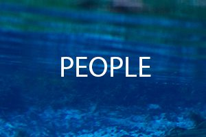 The word People on a background of water